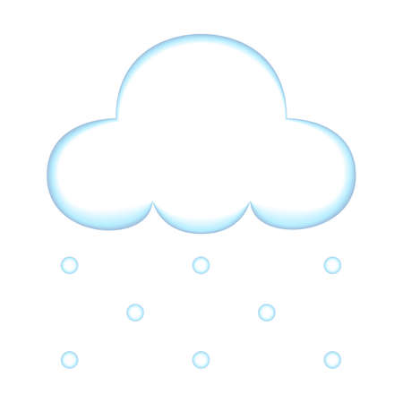 Weather Illustration - Snow Falling From Cloud  Illustration