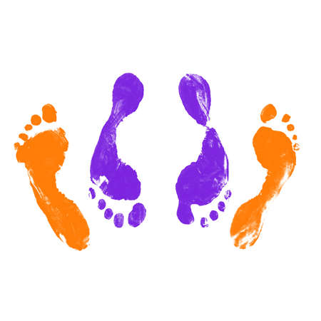 Prints of Human Feet (male and female) Having ual Intercourse in Missionary Position