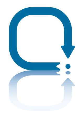 returning: Arrow Symbolizing Returning To The Same Point (jpeg file has clipping path) Illustration