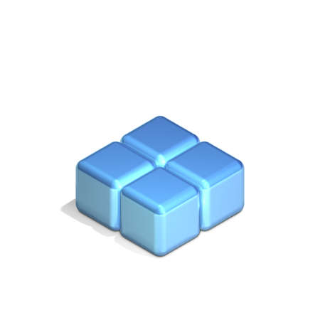 adjacent: Four Adjacent Cubes in Three Dimensional Isometric Perspective