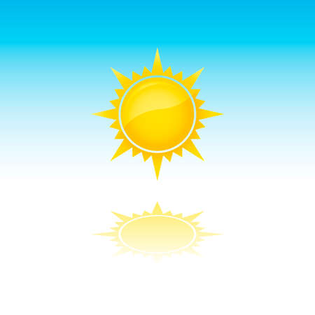 sizzling: Sun With Rays And Reflection (jpeg file has clipping path) Illustration