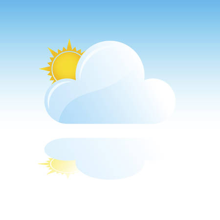overcast: Overcast But Sunny Weather Illustration