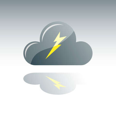 dark cloud: Dark Gray Cloud With Lightning and Reflection