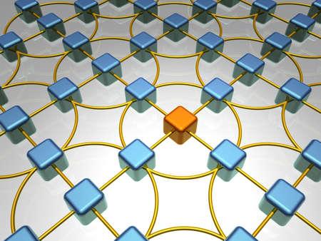 3D Illustration of Network