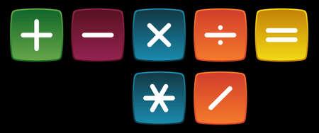 mathematical: Basic Mathematical Operations Symbols