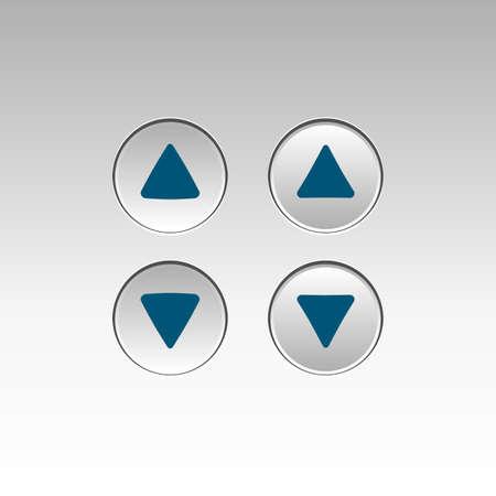 unpressed: Ejemplo de botones de ascensor, prensado y Unpressed