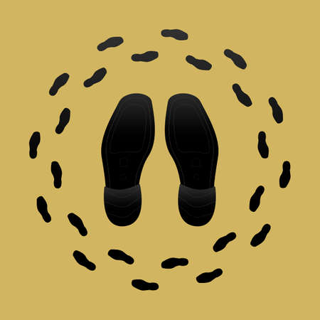outsole: Vector Illustration of Shoe Soles and Shoe Prints Illustration