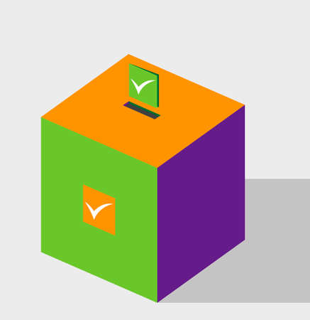 elector: Vector Illustration of Ballot Box