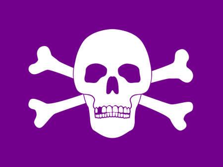 lethal: Vector Illustration of Skull and Bones