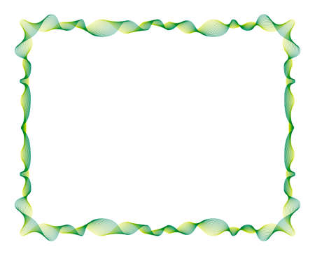 width: Vector Frame of 27 Oscillating Lines (editable stroke width)