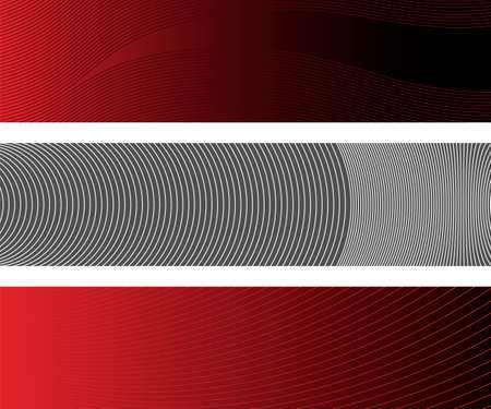denoting: Three Banners With Dynamic Lines Denoting Motion