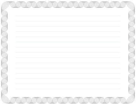 Letter Sized Certificate Background (stroke widths are editable)