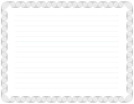 Schreiben Sized Zertifikat Hintergrund (Strichst�rken sind editierbar)
