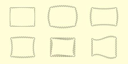perimeter: Six Vector Guilloche Borders (all stroke widths are editable)