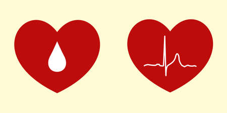 tense: Vector Illustrations of Heart Related Concepts