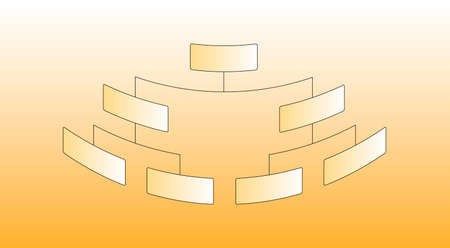 organizational chart: Vector Illustration of Organizational Corporate Chart