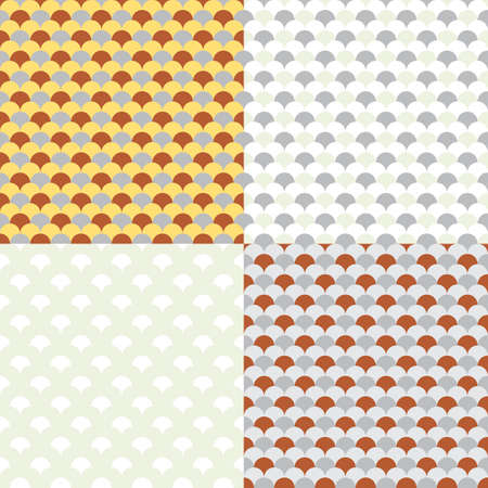 Vector Retro Seamless Pattern (Four Variations) Stock Vector - 5084421