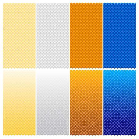 シームレス パターン ベクトル (六つのバリエーション - 編集可能なストロークの幅)