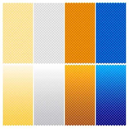 Vector Seamless Pattern (Six Variations - editable stroke width)
