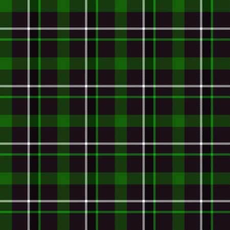 緑タータン シームレス パターン (緑、黒と白)