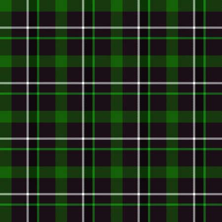 kilt: Green Tartan Seamless Pattern (green, black and white)