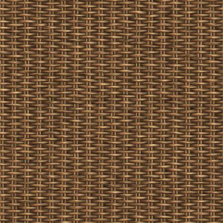 Basket Woven Seamless Pattern Illustration Stock Photo