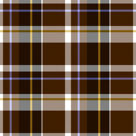 Illustration of Autumn Tartan Cloth Seamless Pattern - Original Pattern Design Stok Fotoğraf