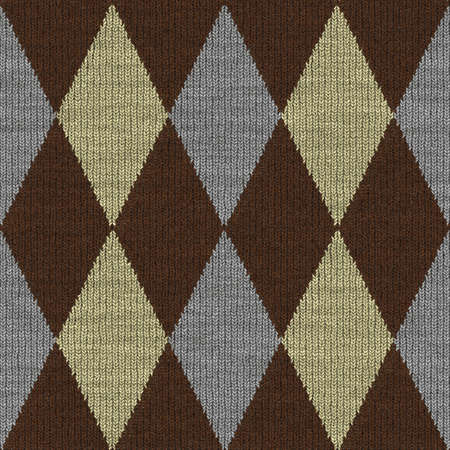 Illustration of Plaid Seamless Pattern Commonly Found in Sweaters Stock Illustration - 5862044