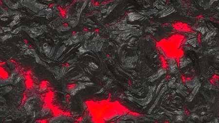 Illustration of Volcanic Lava - Red and Black illustration