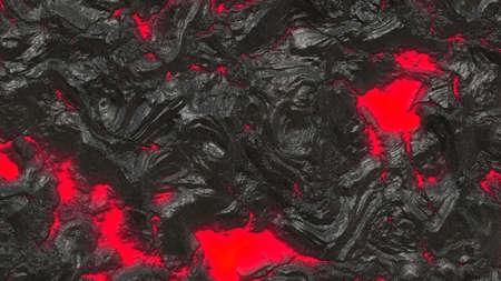 bedrock: Illustration of Volcanic Lava - Red and Black