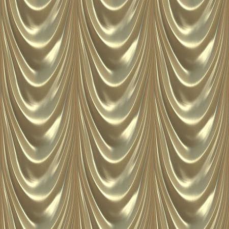 豪華なサテン ゴールド カーテンのシームレスなパターン図