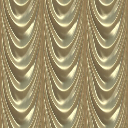 Seamless Pattern Illustration of Luxurious Satin Gold Drapes Stok Fotoğraf