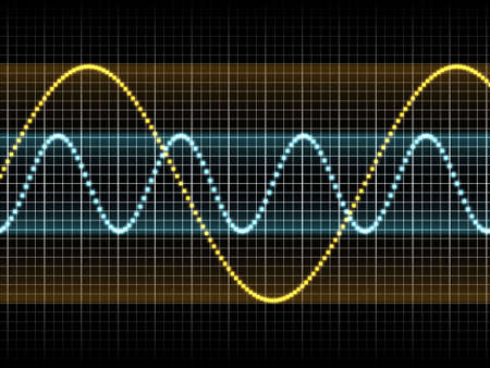 Realistic Illustration of Two Sound Waves Stock Illustration - 5938864