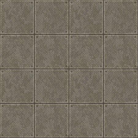 Bitmap Illustration of Metal Plates Seamless Pattern Stock Illustration - 5988535