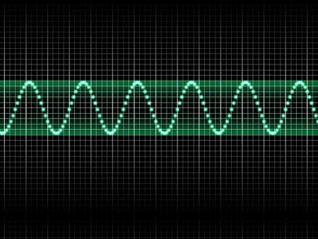 Realistic Illustration of Green Sound Wave