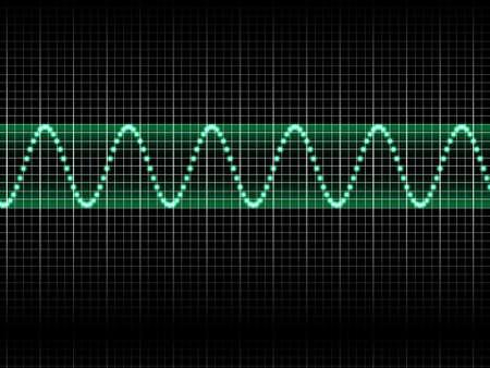 Realistic Illustration of Green Sound Wave illustration