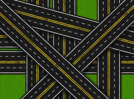 suffocating: Illustrazione delle strade troppi soffocante Grass