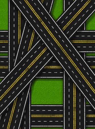 suffocating: Illustrazione delle strade troppi soffocante Nature