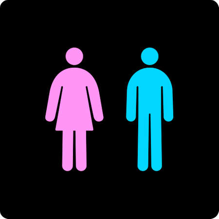 kammare: Vector Illustration of Male and Female Restroom Icons