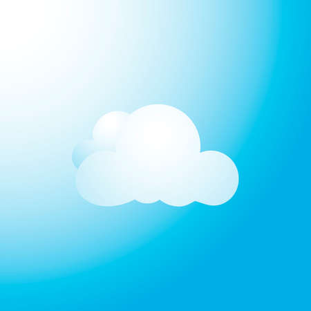 Vector Illustration of White Cloud Over Blue Sky Vector