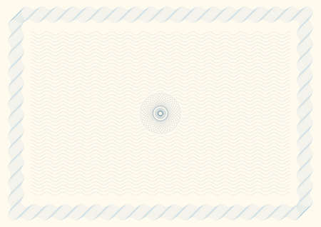 Illustration of Certificate Background (line blends intact for easy editing) Stok Fotoğraf - 6271221