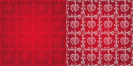 curvaceous:  Illustration of Heart Seamless Pattern - Original Design