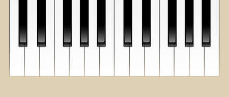 octaves:  Illustration of Two Octaves of Piano Keys