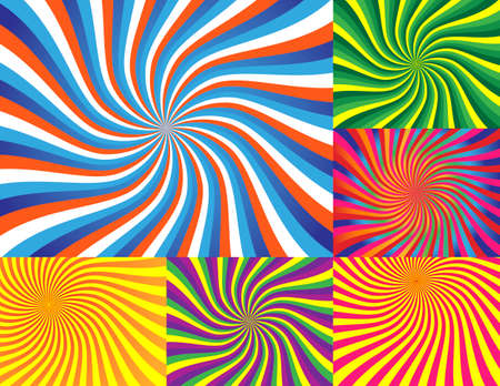 Very Colorful Wave Backgrounds Vector