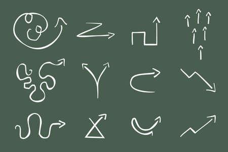 Hand Drawn Illustration of 12  Arrows Stock Vector - 7234554