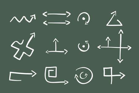 Hand Drawn Illustration of 12  Arrows Stock Vector - 7234556
