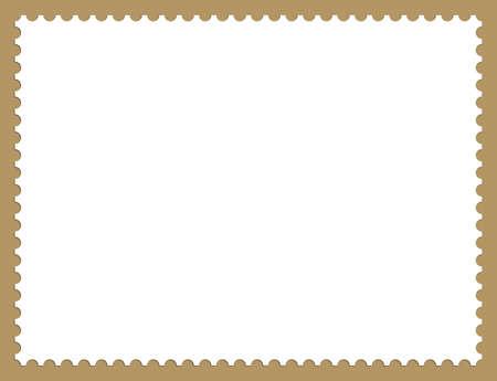 timbre postal: Ilustración de fondo de marco de sello de franqueo con sombras  Foto de archivo