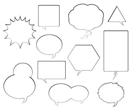 Various Comic Book Speech Balloons Vector