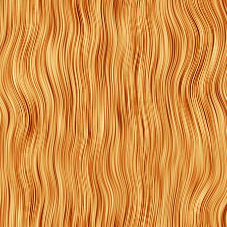 Realistic Bitmap Illustration of Human Hair Stock Photo