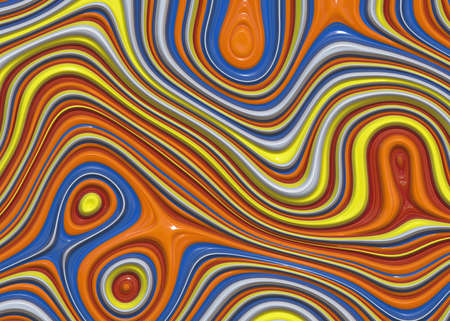 3d bitmap: Bitmap Illustration of Fluid and Colorful Paint BackgroundsColors Mixing Into Wave Pattern
